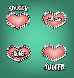 Love of soccer vector