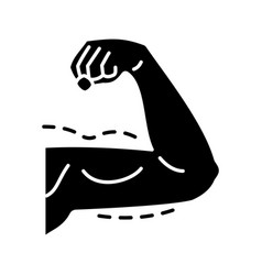 male arm lift surgery glyph icon vector image