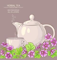 malva tea vector image
