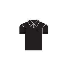 men polo black concept icon men polo flat vector image