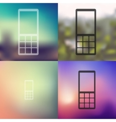 mobile icon on blurred background vector image