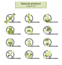 Natural product labels vector