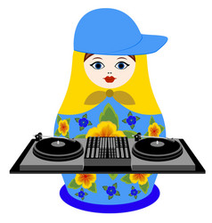 nested doll dj vector image
