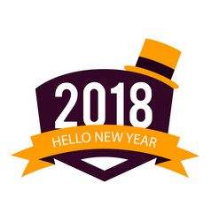 New year hello 2018 image vector