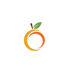 orange logo design vector image
