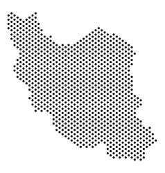 Pixel iran map vector