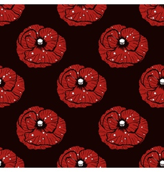 Poppy pattern vector
