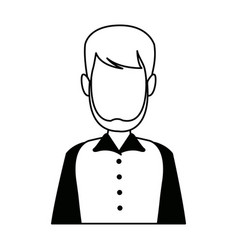 portrait man character person male image vector image