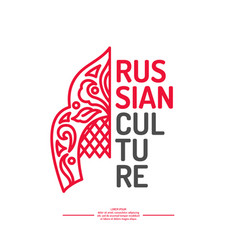 poster of russian culture isolated images vector image