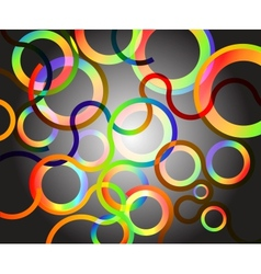 Rainbow circles background vector