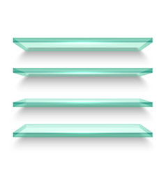 realistic horizontal windows or shelves shelf vector image