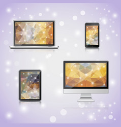 realistick electronic devices set vector image