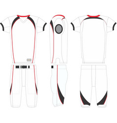 Red zone american football jersey and pant vector