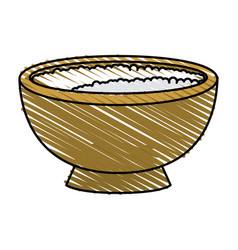 Rice bowl vector