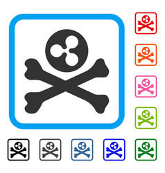 ripple death framed icon vector image