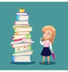 Schoolgirl concept vector