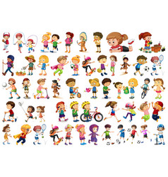 Set children character vector