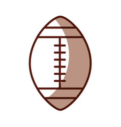 Shadow american football ball cartoon vector