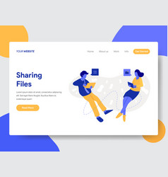 Sharing files and documents vector
