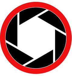 shutter symbol vector image