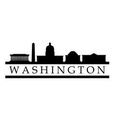 skyline washington vector image