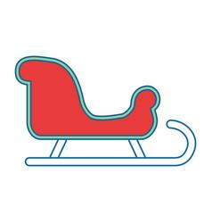 Snow sledge isolated icon vector
