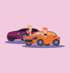 sport cars design vector image