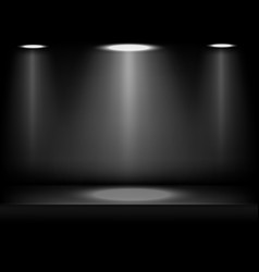 Studio background black in abstract style on dark vector