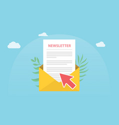 subscribe newsletter concept isolated with news vector image