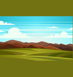 Summer landscape mountain vector
