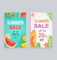 Summer sale discount offer vector