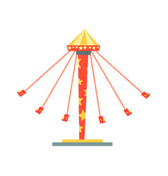 swinging carousel with seats on chains vector image