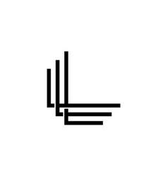 Triple l monogram lll letter hipster lettermark vector
