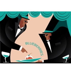 Two gentlemen in the club vector image