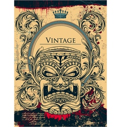 Vintage background with totem vector