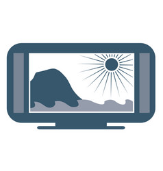 wide screen tv vector image