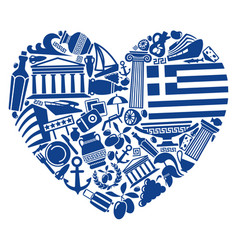 with love to greece vector image
