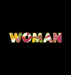 Woman concept word art vector