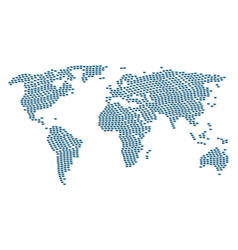worldwide map collage of handshake items vector image