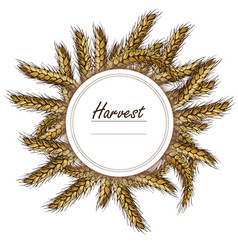 wreath made of rye and wheat 3d icon vector image