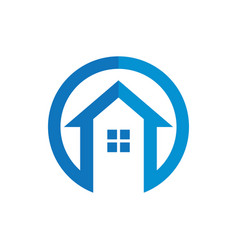circle home construction business logo vector image
