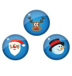icons with Christmas characters vector image vector image