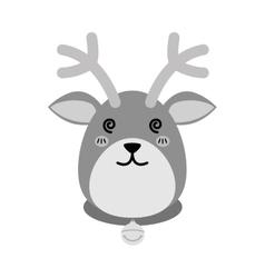 Reindeer xmas cartoon vector image