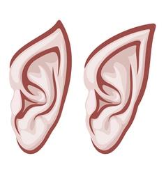 elf ears vector image vector image
