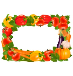 Frame made of vegetables vector image vector image