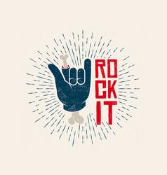 rock it logo design rockl vector image vector image
