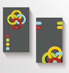 Set Of Modern Global Business Design Banner vector image
