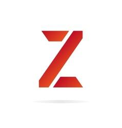 Logo Z letter for company design template vector image