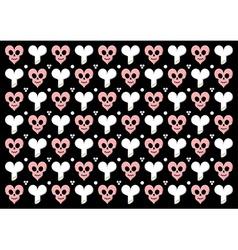 Emo gothic valentine wrapper vector image