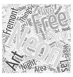 Free things to do in las vegas word cloud concept vector
